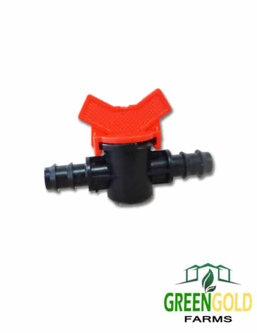 "Male Barbed Valve 16mm for 1/2"" Polypipe Irrigation"